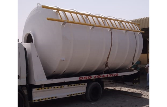 Grp chemical tank vertical shape various height