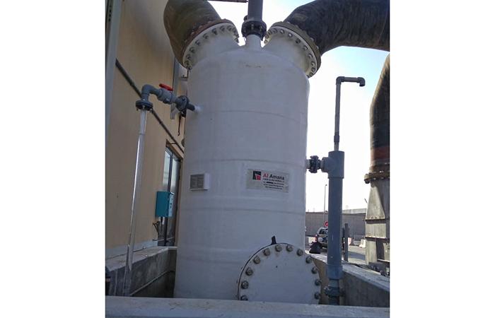 Grp chemical tank