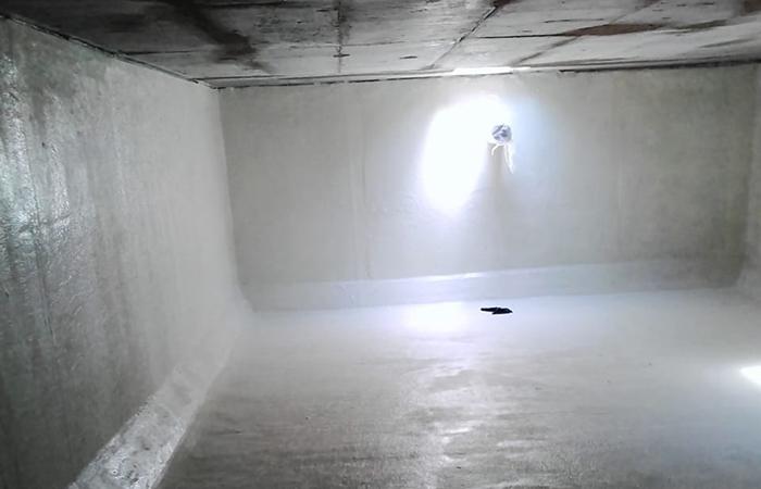 Grp under ground water tank lamination
